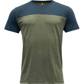 Devold Norang T-Shirt Men, Oliva/azul